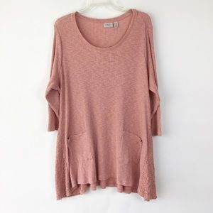 LOGO | Pink Tunic Top Size 2X (A734)